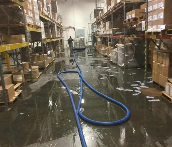 Two Space Warehouse Flood Before