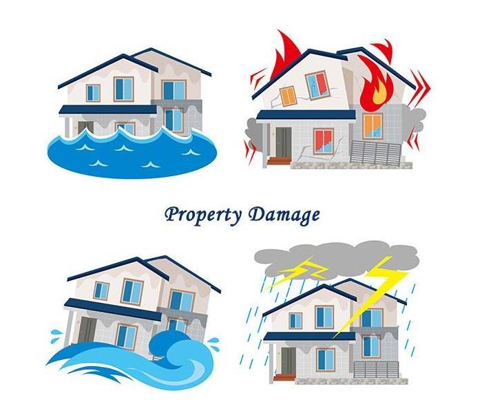 Clipart - different types of property damage