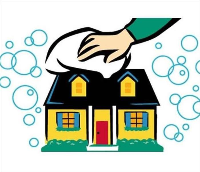 House with bubbles clipart
