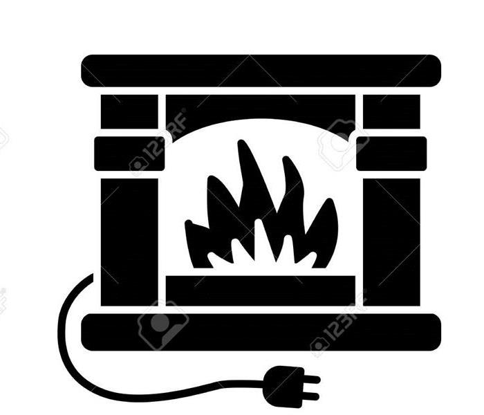 Space Heater Fire Clipart