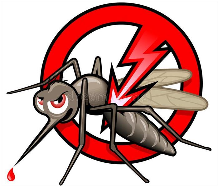Mosquito with a cancel sign